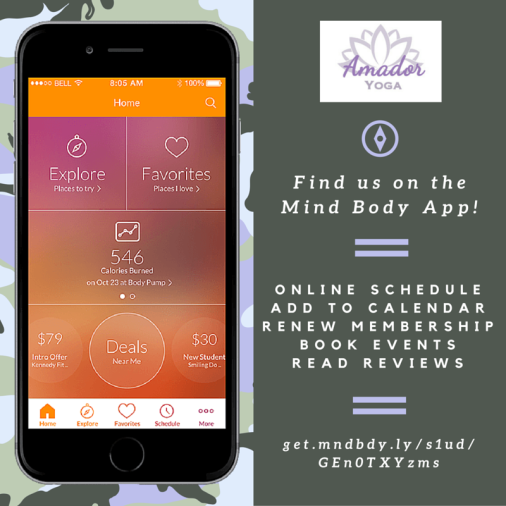 Find us on the Mind Body App!